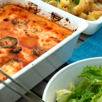 Lavkarbo-lasagne eller (fuske)moussaka