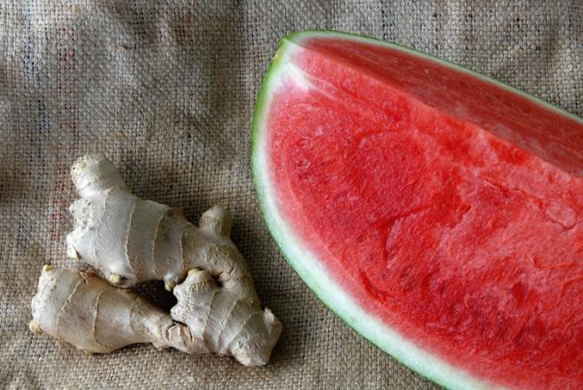Ingefær og vannmelon gir deg en god dose antioksidanter. Foto: Lise von Krogh
