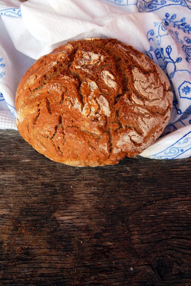 Dette brødet holdt bare en dag, fordi det var så godt. Foto: Lise von Krogh