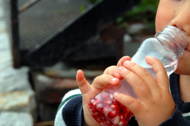 Barn vil elske drikke med granateplekjerner eller vannmelonbiter. Først drikke og så kan de spise frukten. Herlig! Foto: Lise von Krogh