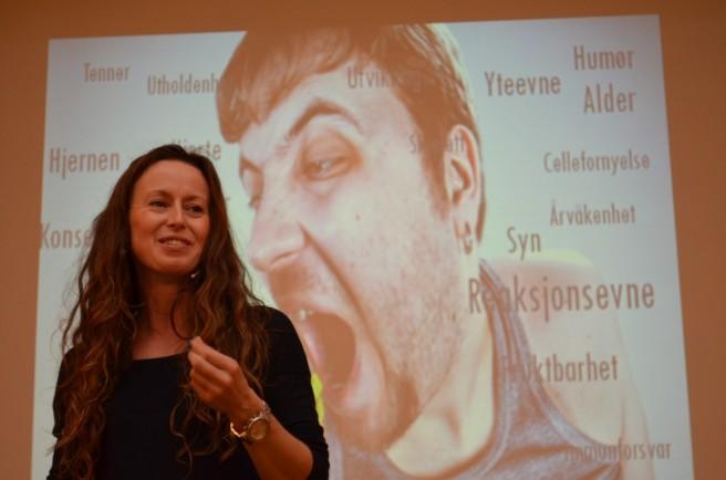 Foredrag om kosthold ved skiftarbeid på Samspillkonferansen 2013 til Fagforbundet. Foto: Jan Tore Skjelbek