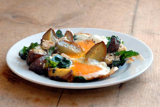 Omelett med grønn vri. Foto: Lise von Krogh.