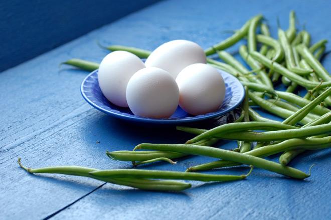 En animalsk og en vegetabilsk proteinkilde. Foto: Lise von Krogh.
