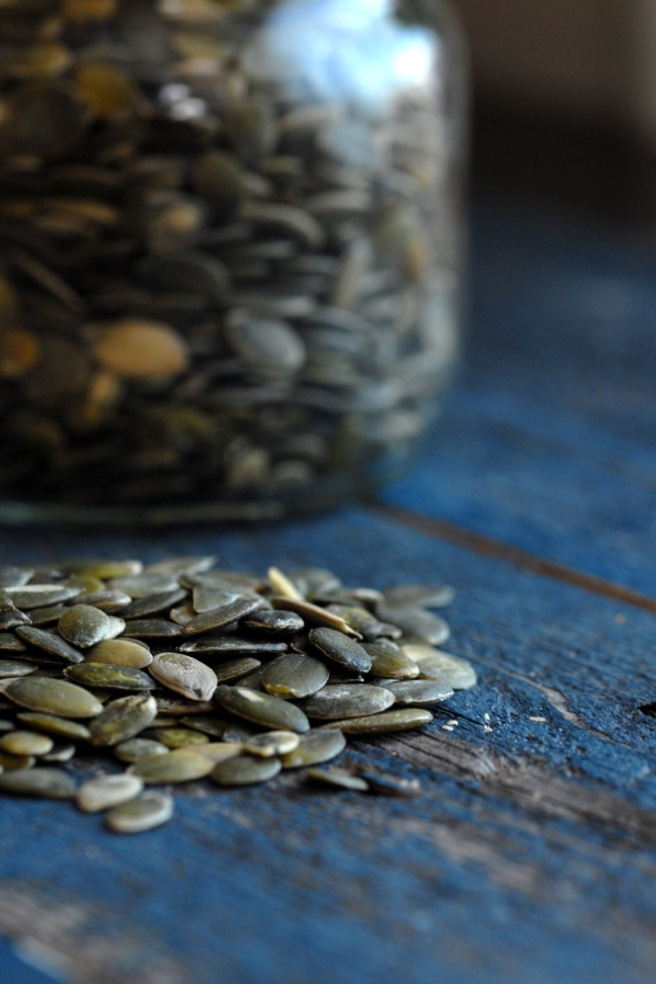 Gresskarkjerner er rike på vitamin E, magnesium og sink. Foto: Lise von Krogh.