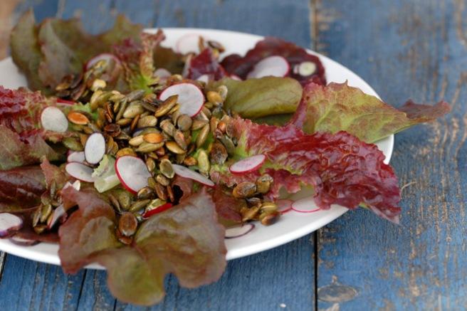 Helt enkel salat. Foto: Lise von Krogh.