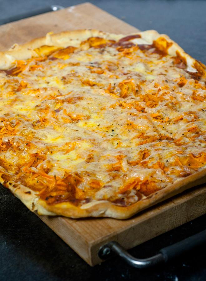 Gulrotpizza til små og store. Foto: Lise von Krogh.