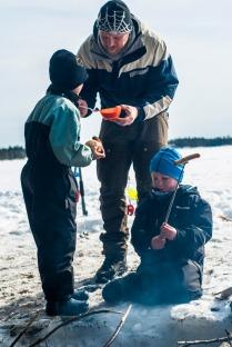 Ingen bursdag uten pølser. Foto: Lise von Krogh.