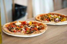 Økologisk italiensk pizza. Foto: Lise von Krogh.