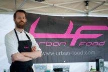Kjøkkensjefen på Urban Food. Foto: Lise von Krogh.