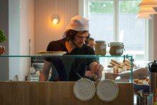 Pizza på gang i Kjøkkenhagen. Foto: Lise von Krogh.