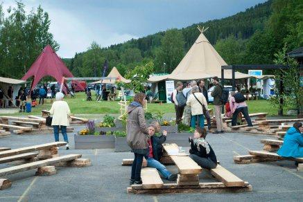 Festivalområdet ved Fremtidssmia. Foto: Lise von Krogh.
