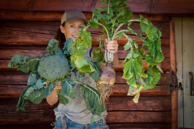 Flotte økologiske grønnsaker. Foto: Lise von Krogh.