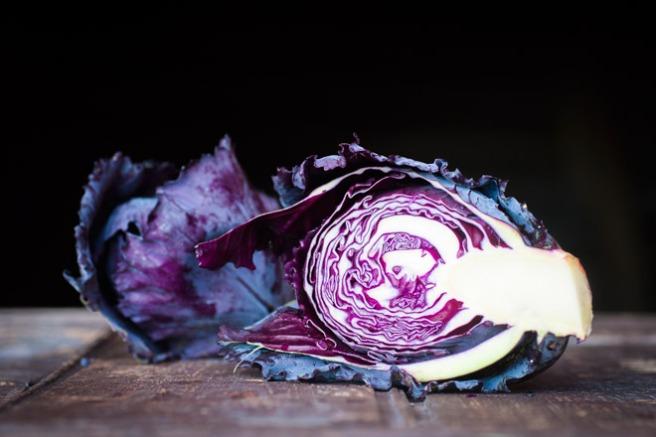 Rødkål til salat. Foto: Lise von Krogh.