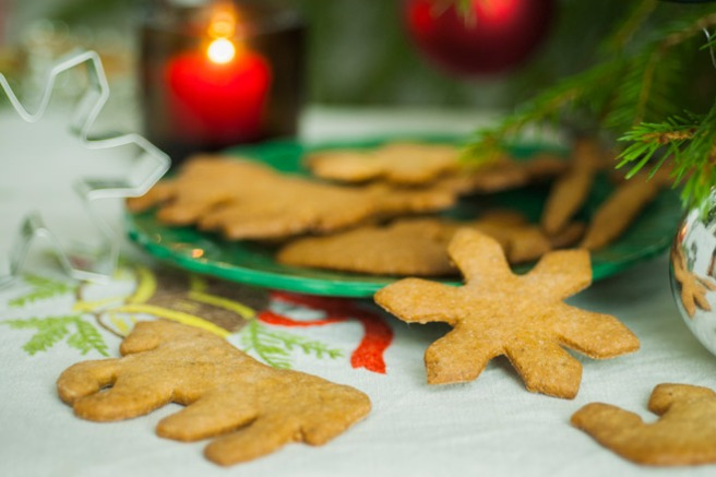 Julekongen-tema på pepperkakene. Foto: Lise von Krogh.