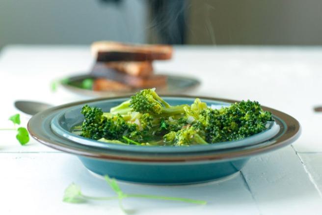 Klar brokkolisuppe. Foto: Lise von Krogh ©