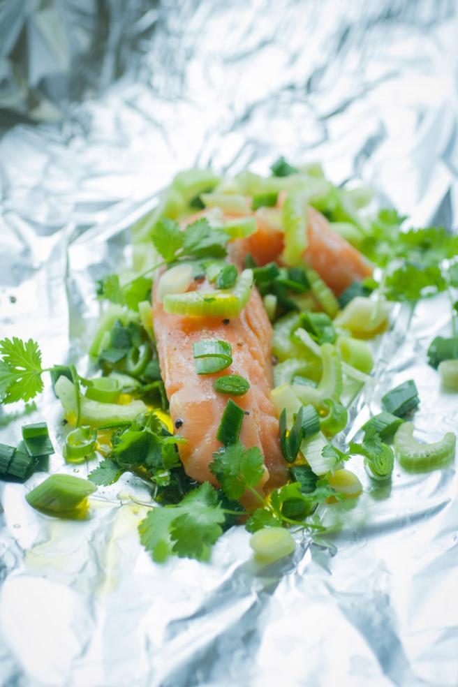 Fiskepakke med minipurre. Foto: Lise von Krogh ©