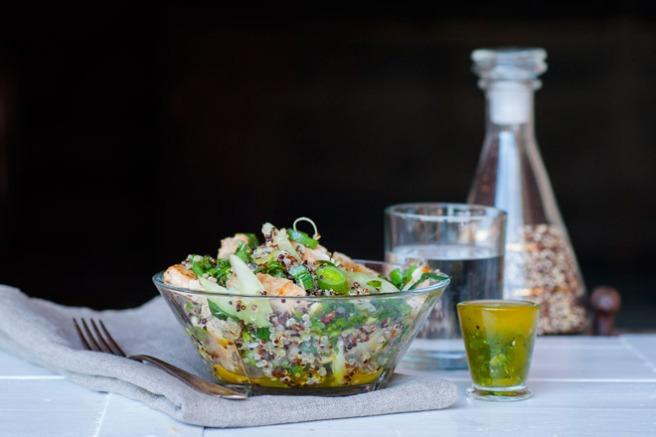 Quinoa- og kyllingsalat. Foto: Lise von Krogh ©