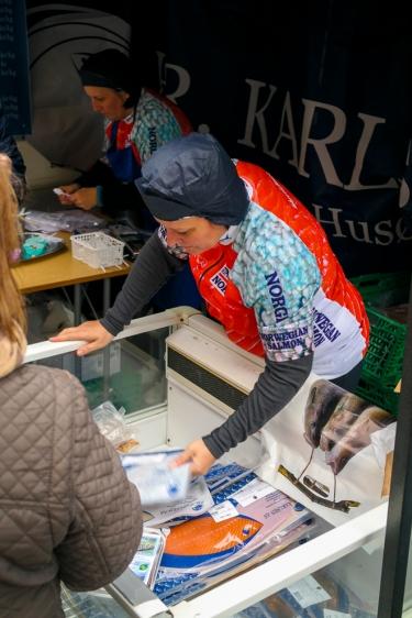 Mange produkter av laks. Foto: Lise von Krogh.