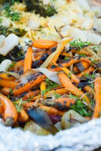 Grillede gulrøtter. Foto: lise von Krogh ©