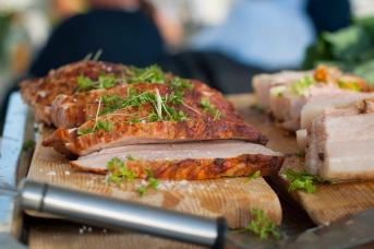 Lokalt svinekjøtt. Foto: lise von Krogh ©