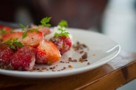 Jordbær til dessert. Foto: lise von Krogh ©