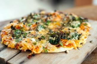 Deilig vegetarpizza. Foto: Lise von Krogh.